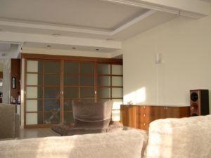 раздвижная перегородка в гостиной