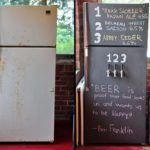 холодильник под грифельную доску