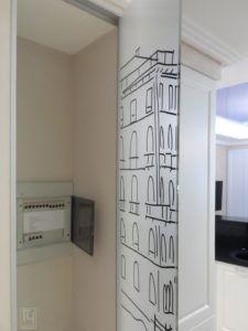 стеклянная дверь шкафа