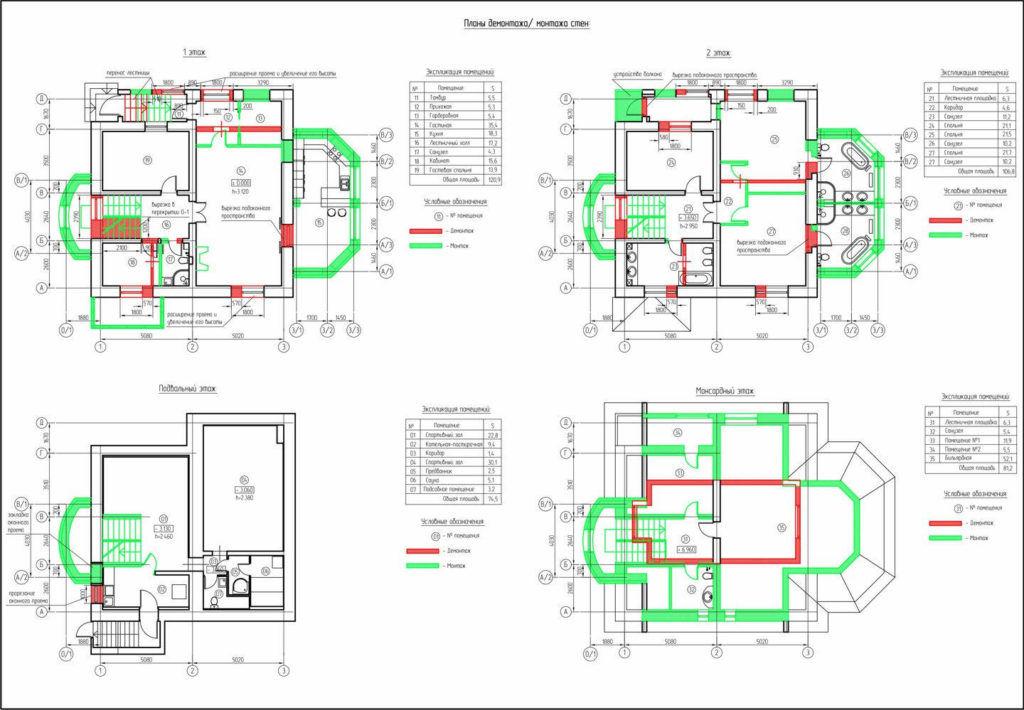 Планы перестройки дома