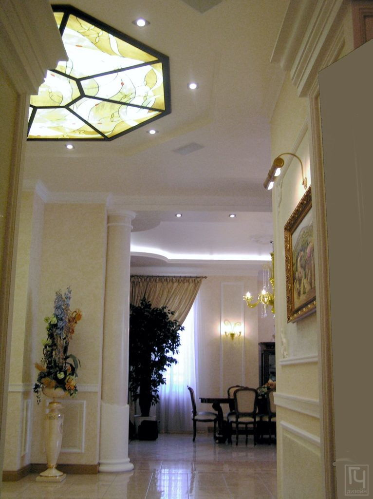 Дизайн интерьера и архитектурное проектирование - Витраж на потолке