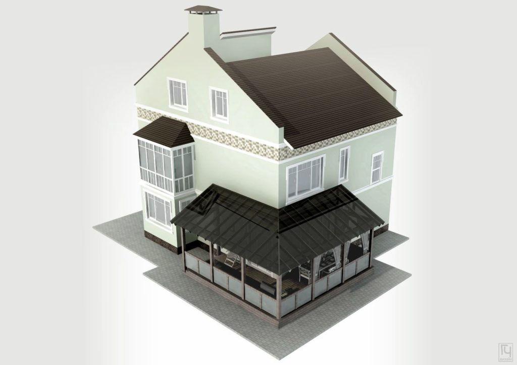 Пристройка террасы к дому