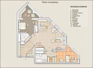 План квартиры в ЖК Олимпия