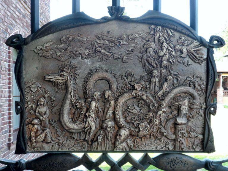 Керамический барельеф