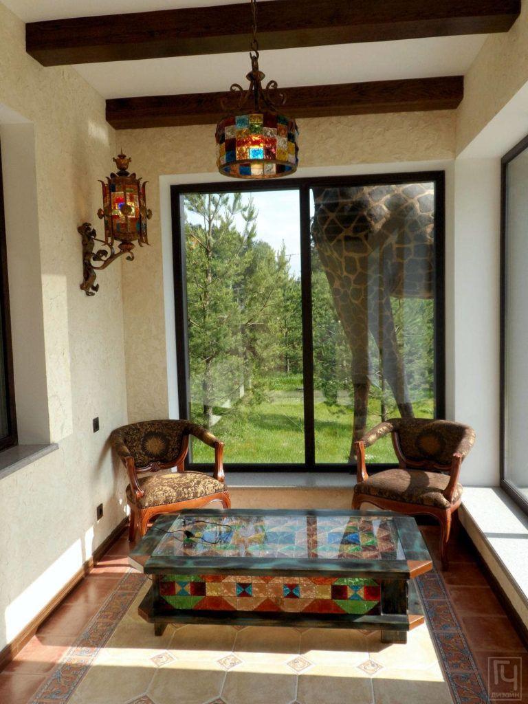 Терраса в мароканском стиле
