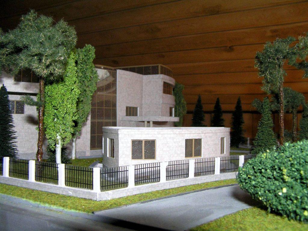 Дом в органическом стиле. Макет