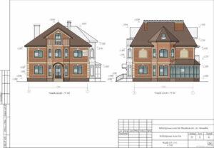 Цветовое решение фасадов дома