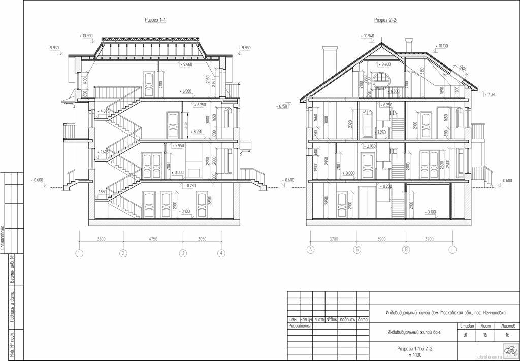 Архитектурные разрезы