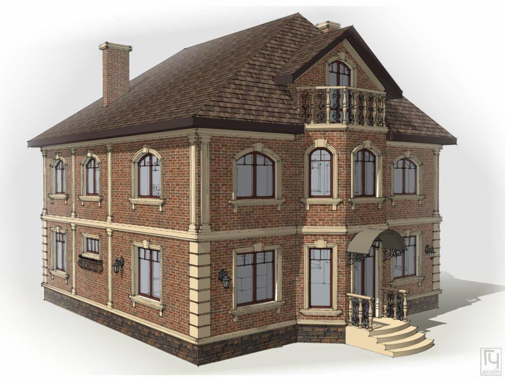 Дом из тёмного кирпича