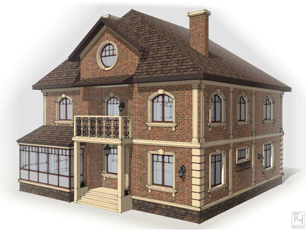 Дом с облицовкой клинкерным кирпичом