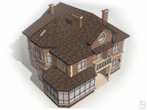 Визуализация внешнего вида дома