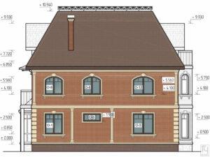 Архитектурный фасад дома