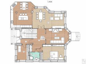 Планировка дома в классическом стиле