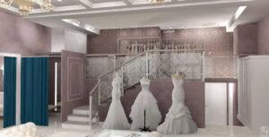 Клиентский зал швейного ателье