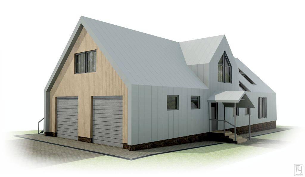 Дом барнхаус с гаражом