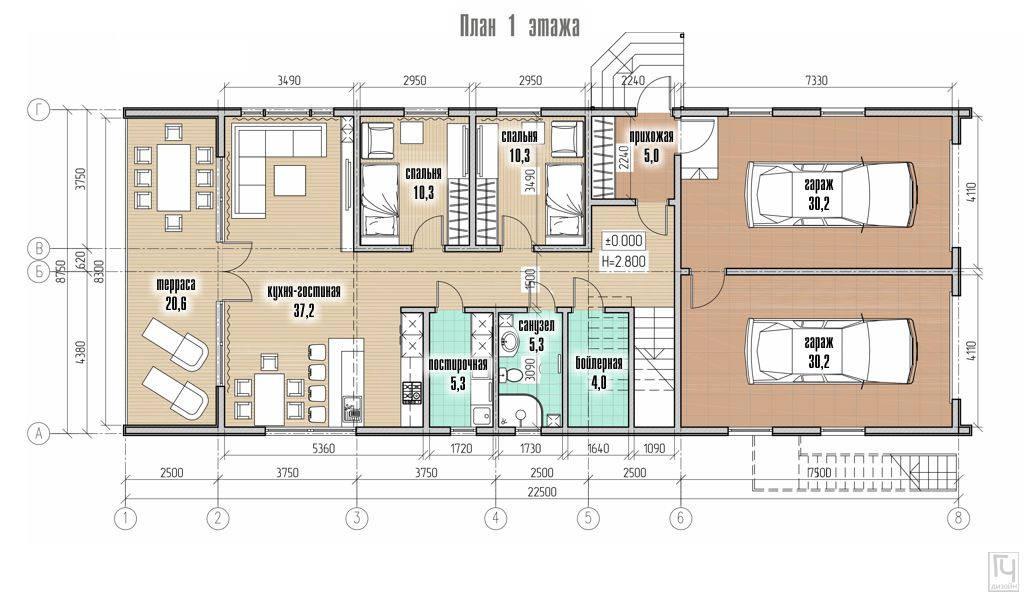 Планировка дома из SIP-панелей