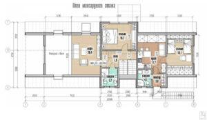 Планировка дома в стиле барнхаус