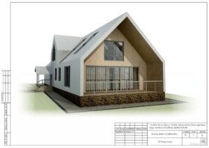 Каркасный дом в стиле барнхаус