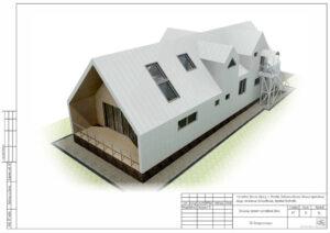 Проект дома из sip-панелей