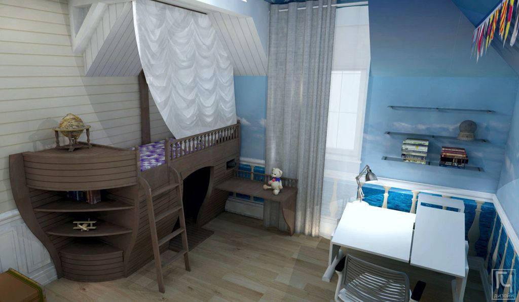 Детская кровать в виде корабля
