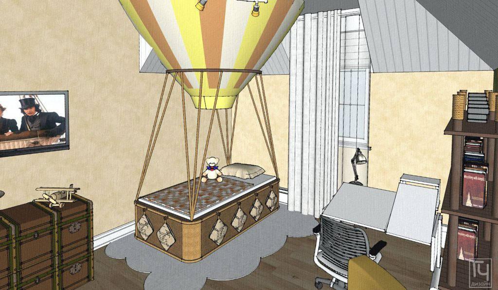 Детская кровать в виде воздушного шара